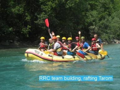 RRC team building, rafting Tarom